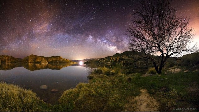 "Zach Grether, A Canyon Lake Morning"" - 2013 International Earth & Sky Photo Contest, 2nd Place in Against the Lights Category"