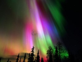Multi-colored aurora