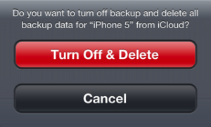 Turn-off-delete-backup-data