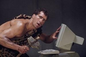 caveman and computer